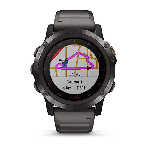 Variant: Garmin Fenix 5X Plus Sapphire (Carbon Gray DLC Titanium with DLC Titanium Band)