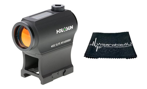 Holosun Green Dot/Solar Panel HE403C-GR with included Wearable4U Lens Cleaning Towel Bundle