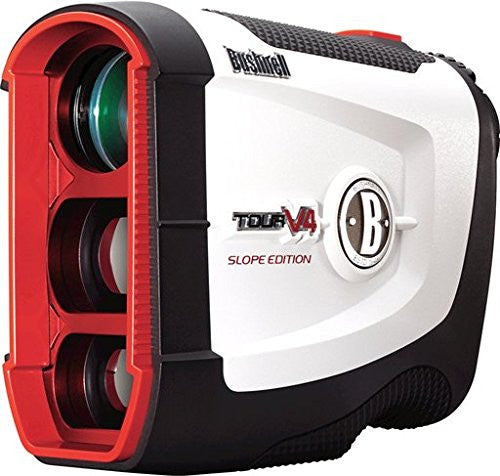 Bushnell Tour V4 Slope Patriot Pack Laser Golf Rangefinder Black red white color