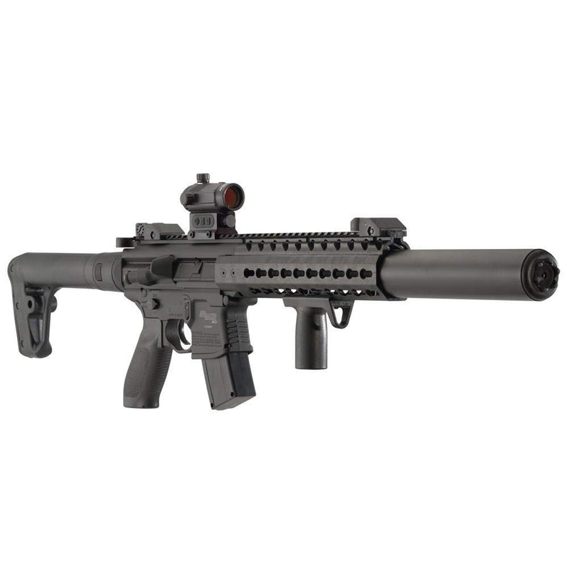 Sig Sauer MCX .177 CAL Co2 Powered (30 Rounds) SIG20R Red Dot Air Rifle, Black