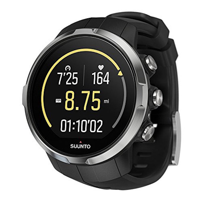 Suunto Spartan Sport GPS Multisport Watch black color with black silicone band