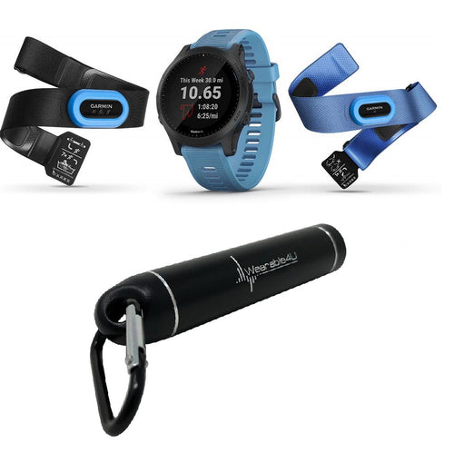 Garmin Forerunner 945 Premium GPS Running/Triathlon Smartwatch with Included Wearable4U Power Pack Bundle