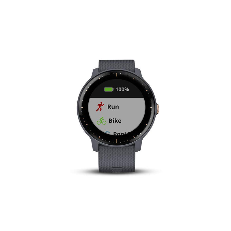 Garmin Vivoactive 3 Music GPS Smartwatch with Music (Granite Blue with Rose Gold)