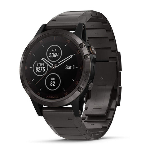 Garmin Fenix 5 Plus Sapphire (Carbon Gray DLC Titanium with DLC Titanium Band)