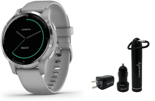Garmin Vivoactive 4 GPS Smartwatch and Wearable4U Power Pack Bundle