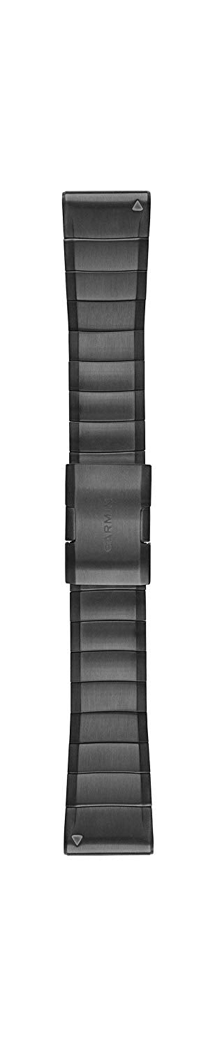 Garmin 010-12741-01 Quickfit 26 Watch Band - Carbon Grey DLC Titanium- Accessory Band for Fenix 5X Plus/Fenix 5X