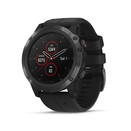 Garmin fēnix 5X Plus Ultimate Multisport Smartwatch with Music, GPS, Maps, and Garmin Pay Sapphire Black with Black Band 010-01989-00