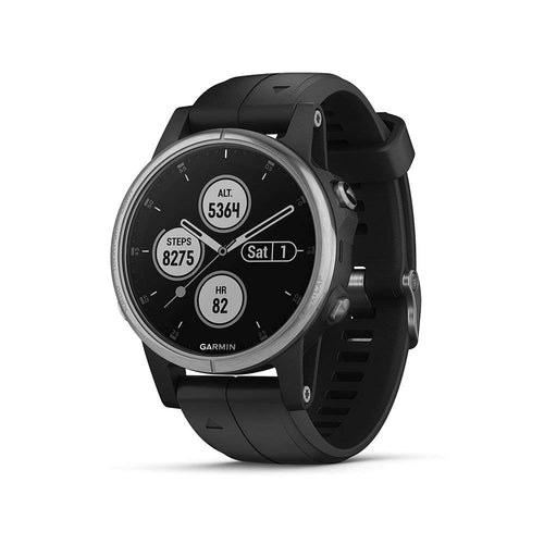 Garmin Fenix 5 Plus (Silver with Black Band)