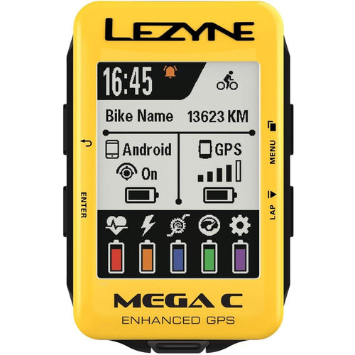 Lezyne Mega C Color Screen GPS Cycling Computer
