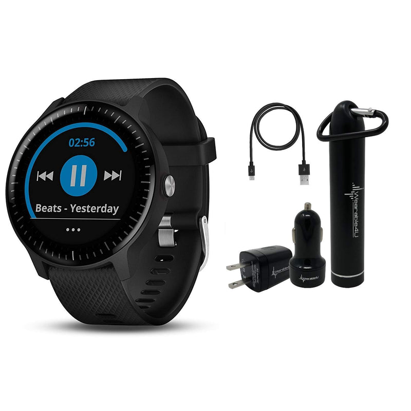 Garmin Vivoactive 3 GPS Smartwatch and Wearable4U Ultimate Power Bundle  Music