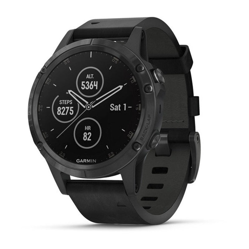 Garmin fēnix 5 Plus Premium Multisport Smartwatch with Music, GPS, Maps, and Garmin Pay Sapphire