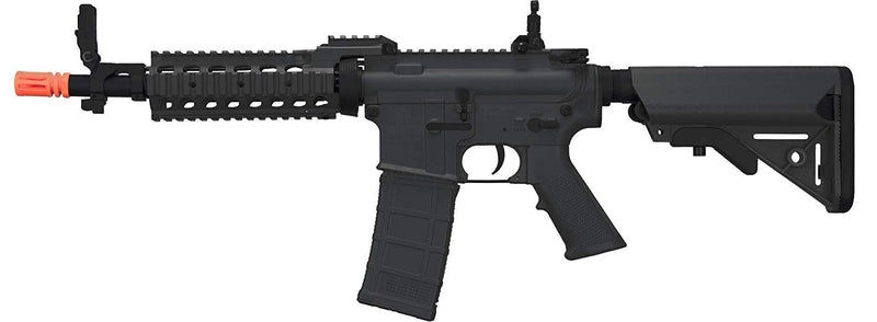 "Tippmann BT M4 CQB RIS-Black (US Orange Tip) 10.5"" Barrel 9.6V NimH Battery and Charger below 350 fps"