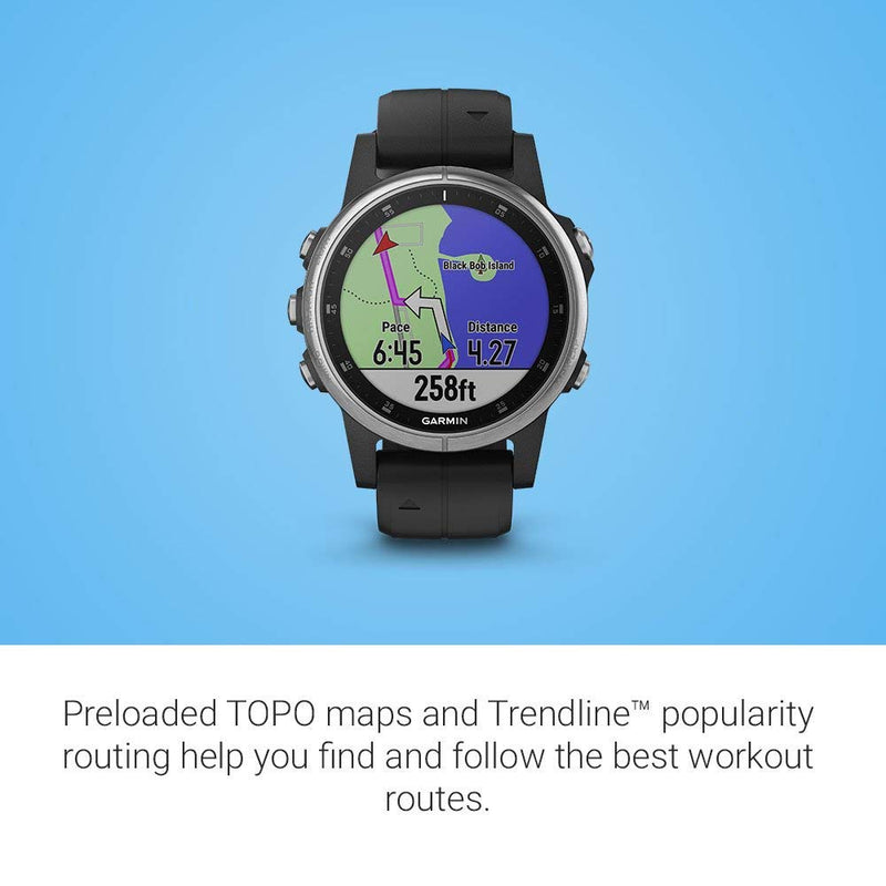 Garmin fēnix 5S Plus Compact Multisport Smartwatch with Music GPS maps and Garmin Pay