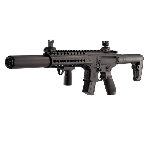 Sig Sauer MCX .177 Caliber Pellets, Co2 Powered (30 Rounds) Air Rifle, Black
