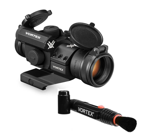 Vortex Optics StrikeFire 2 Red/Green Dot Sight with Cantilever Mount (SF-RG-501) with Vortex Lens Pen Bundle