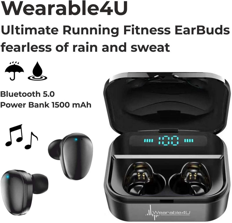 Garmin Venu GPS Smartwatch with AMOLED Display and Wearable4U Ultimate Black EarBuds with Charging Power Bank Case Bundle (Light Sand/Rose Gold)