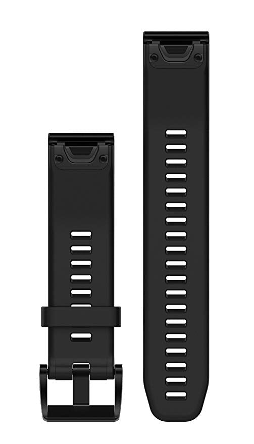 Garmin QuickFit 22 Watch Band in Black and Silver Silicone Fenix 5/5 Plus