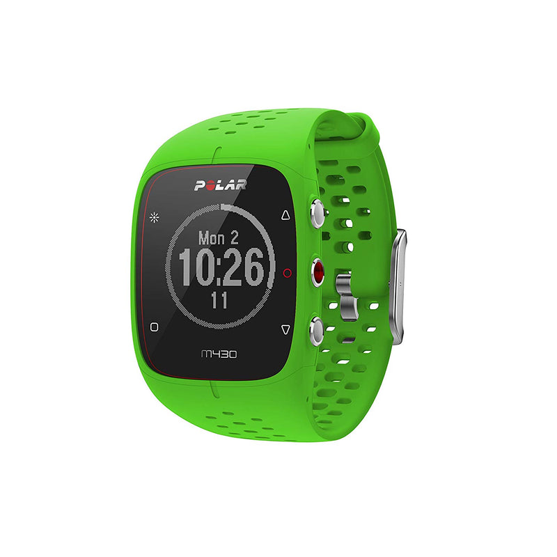 Polar M430 Advanced Running GPS Watch with Wrist-based Heart Rate Monitor and Wearable4U Ultimate Power Pack Bundle (Green)