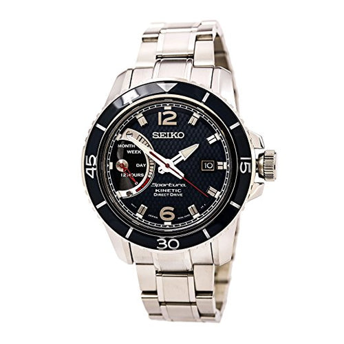 Seiko Sportura Kinetic Direct Drive Stainless Steel Men's watch #SRG017