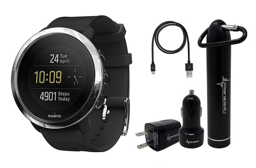 Suunto 3 Fitness Watch and Wearable4U Power Pack Bundle