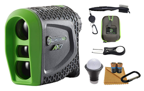 Precision Pro NX7 Laser Golf Rangefinder (Non-slope) Wearable4U All-In-One Golf Tools Bundle