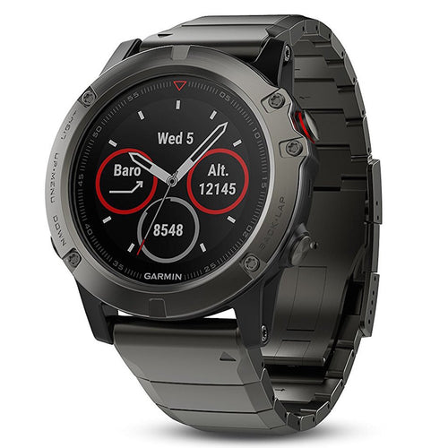 Garmin Fenix 5X Sapphire Metal grey color with metal band
