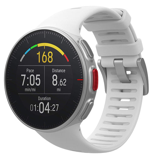 Polar Vantage V GPS Watch w/ Precision Prime & Wrist Power Meter, White 90070735