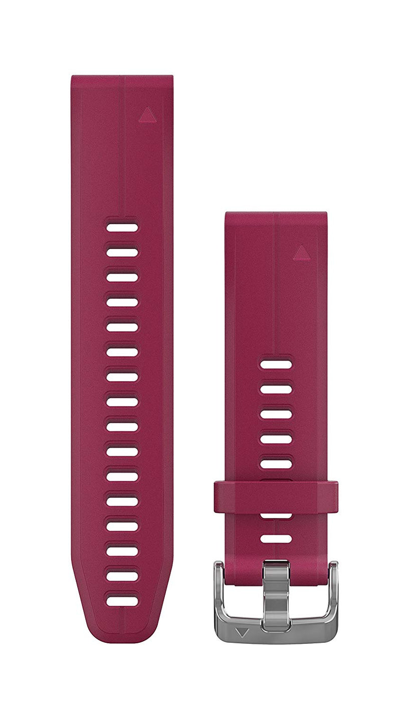 Garmin 010-12739-05 Quickfit 20 Watch Band - Cerise Silicone - Accessory Band for Fenix 5S Plus/Fenix 5S