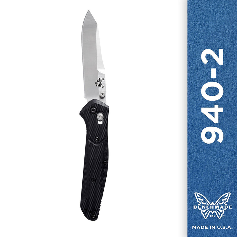 Benchmade - 940-2 Knife, Reverse Tanto, G10 Handle