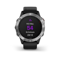 Garmin Fenix 6 Silver with Black Band Included Wearable4U Power Pack Bundle