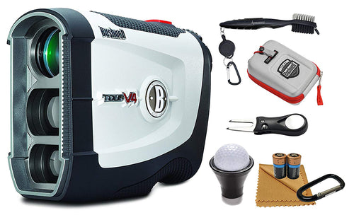 Bushnell Tour V4 Patriot Pack Laser Golf Rangefinder and Wearable4U All-In-One Golf Tools Bundle