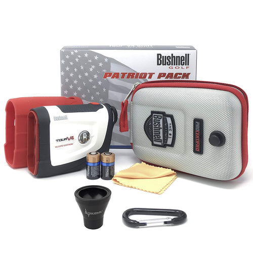 Bushnell Tour V4 Shift Laser Golf Rangefinder (Patriot Pack+Battery+PickUp Tool)