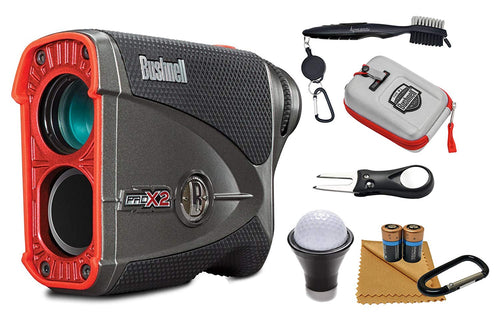 Bushnell Pro X2 Laser Golf Rangefinder and Wearable4U All-In-One Golf Tools Bundle