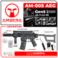 Umarex Elite Force Amoeba AM-005 AEG Automatic 6mm BB Rifle Airsoft Gun (Gen5) with Wearable4U Bundle