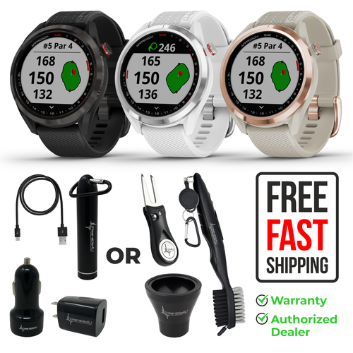 Garmin Approach S42 Premium GPS Golf Watch with Wearable4U Bundle