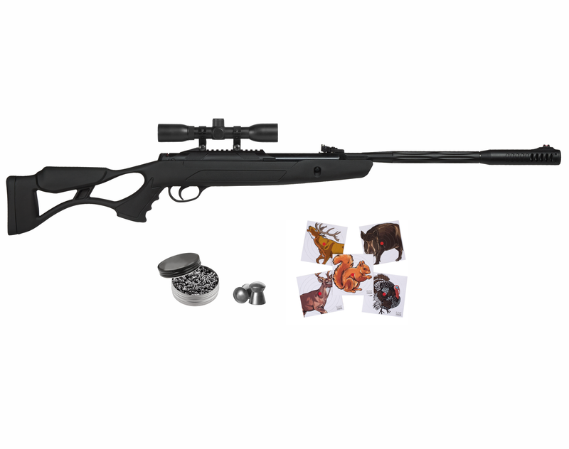 Hatsan AirTact ED Combo Air Rifle with 100x Paper Targets and Lead Pellets Bundle