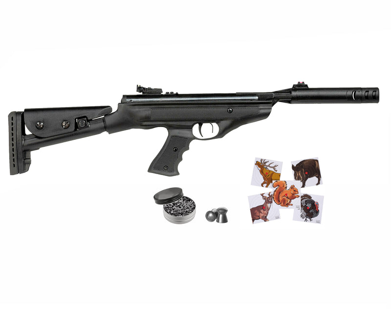 Hatsan MOD 25 SuperTACT QE Air Rifle with Paper Targets and Lead Pellets Bundle