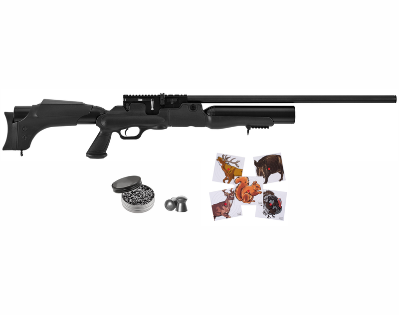 Hatsan Hercules Air Rifle with Included Wearable4U 100x Paper Targets and Lead Pellets Bundle
