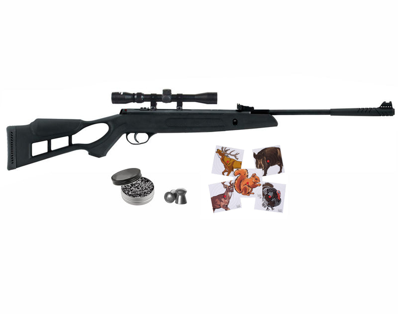Hatsan Edge Spring Combo Air Rifle and Paper Targets and Pellets Bundle