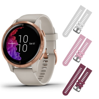 Garmin Venu GPS Smartwatch with AMOLED Display and Included Wearable4U 3 Straps Bundle