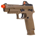 Sig Sauer Airsoft, Proforce 6mm Plastic BB, M17 Coyote Tan Air Soft Pistol with Included Bundle