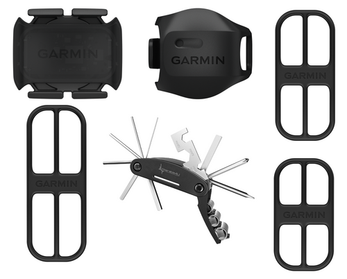 Garmin Speed Sensor 2 and Cadence Sensor 2 Bundle with Wearable4U Cycling Multi Tool