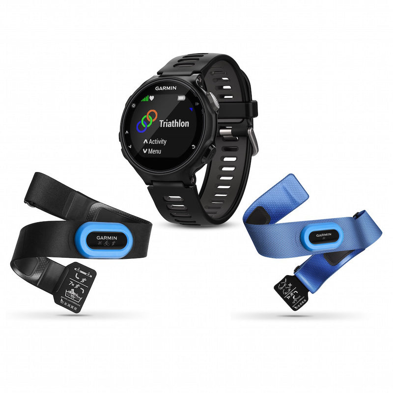 Garmin Forerunner 735XT  Black color with black silicone band and two performer bundles