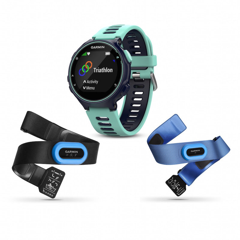 Garmin Forerunner 735XT  Midnight blue color with silicone band and two performer bundles