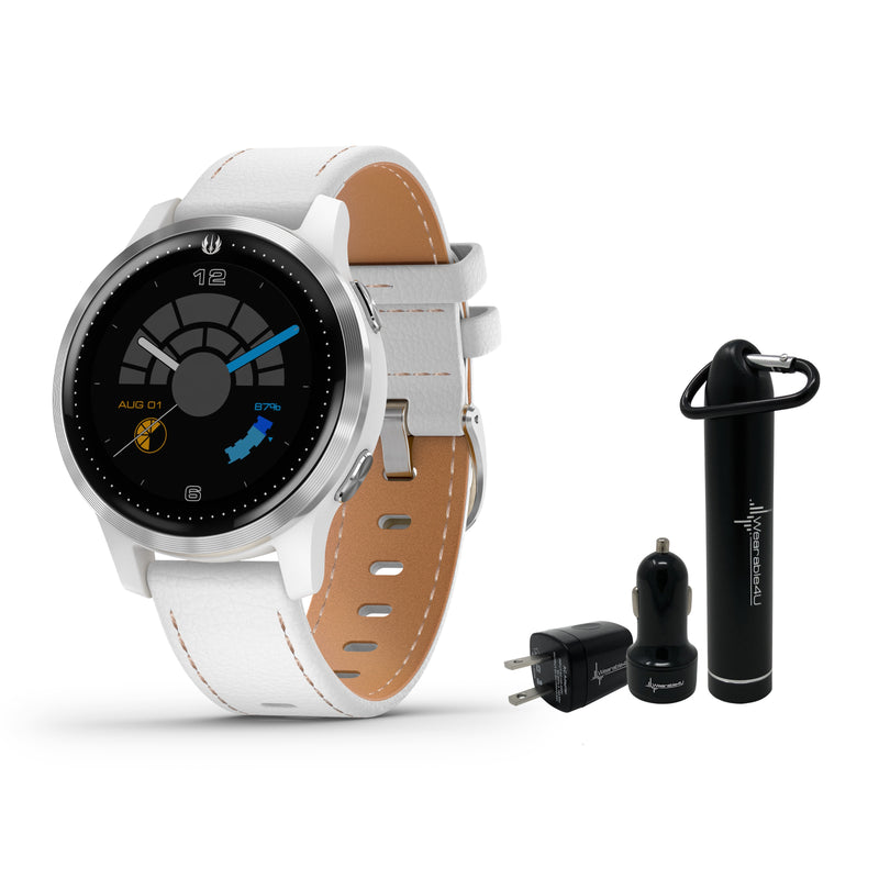 Garmin Legacy Saga Series Special Edition Smartwatch with Included Wearable4U Power Pack Bundle (Rey (40mm))