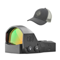 Sig Sauer Romeo1Pro Black or FDE Red Dot Reflex Sight and Trucker Hat Bundle