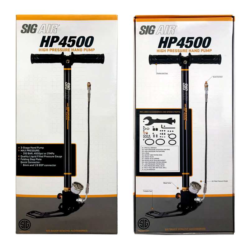 Sig Sauer High Pressure PCP Airgun, Hand Pump 3 Stage Stirrup Pump 310BAR, 4500PSI (30MPA)