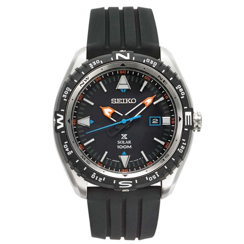 Seiko Prospex Rubber Strap Solar Men's Watch with Date SNE423