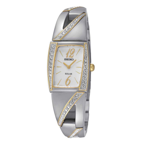 Seiko Core Analog Display Japanese Quartz Two Tone Women's Watch SUP246