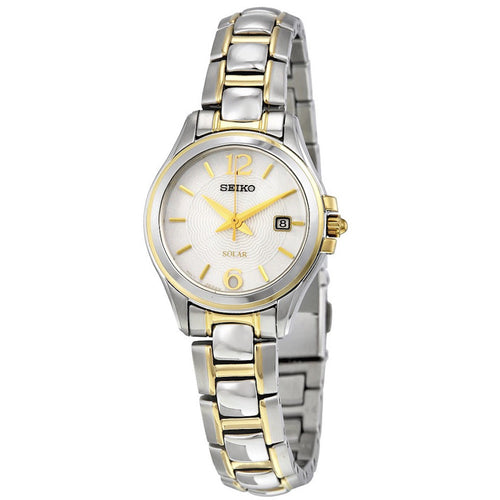 Seiko Core Solar Analog Display Japanese Quartz Two Tone Women's Watch SUT250